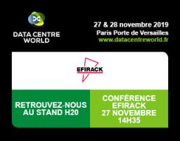 Efirack vous accueille à Datacenter World – du 27 au 28 novembre 2019
