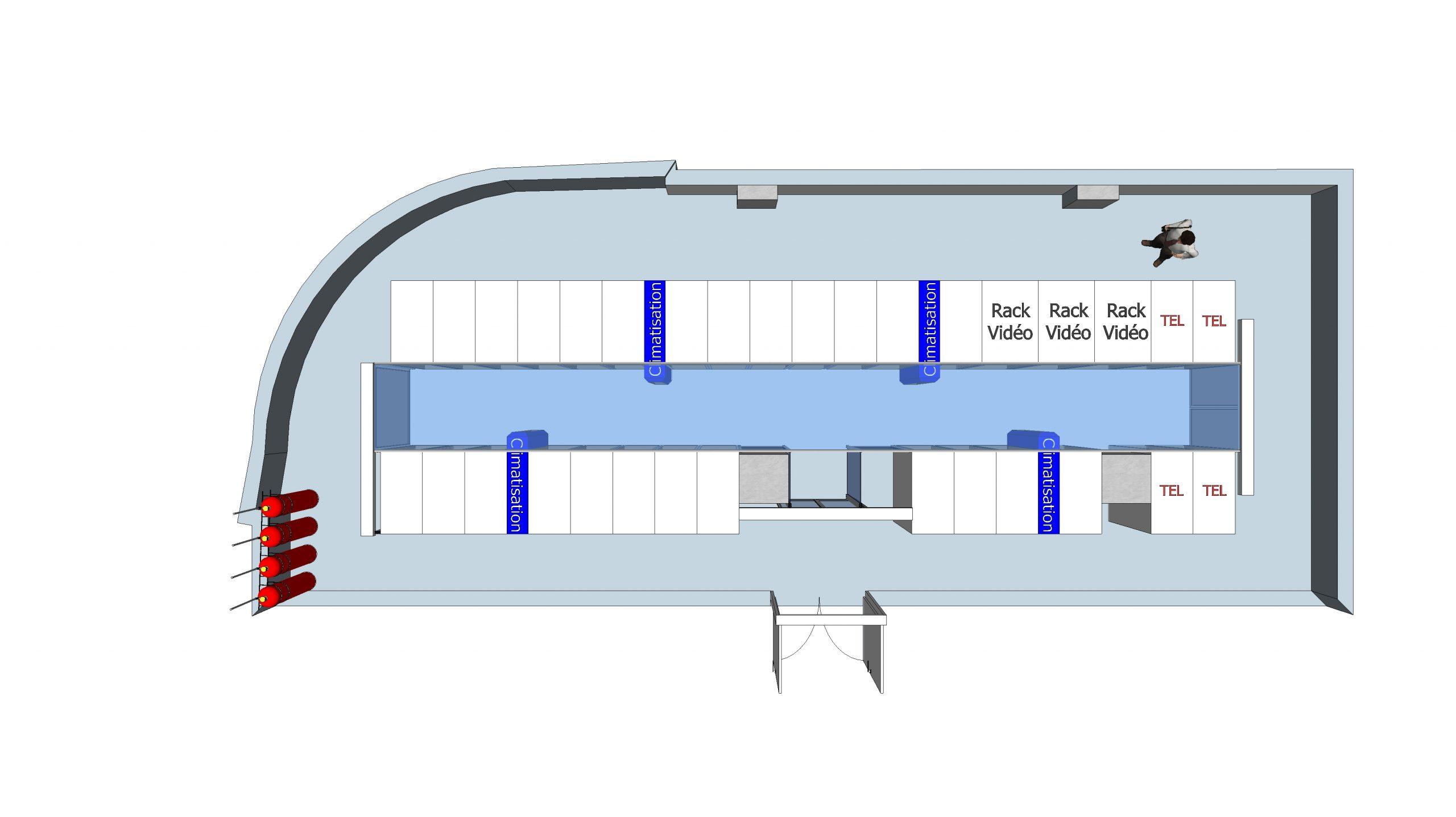 Aménagement d'une salle serveur dans un bâtiment classé